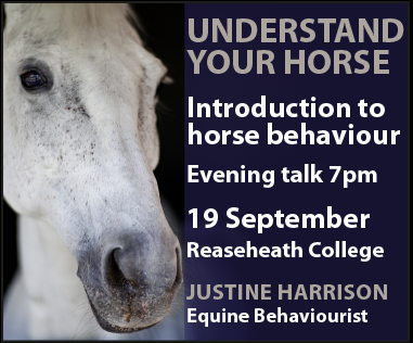 Justine Harrison Talk Reaseheath (Cheshire Horse)